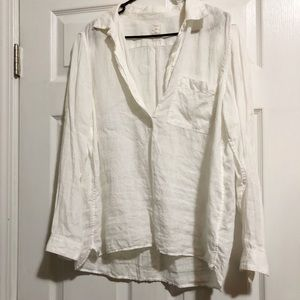 Gap 100% linen long sleeve tunic